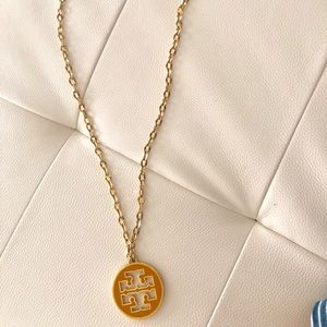 Tory Burch Logo Medallion Necklace